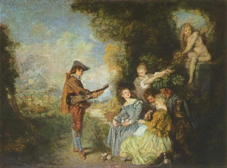 The Lesson of Love - Antoine Watteau
