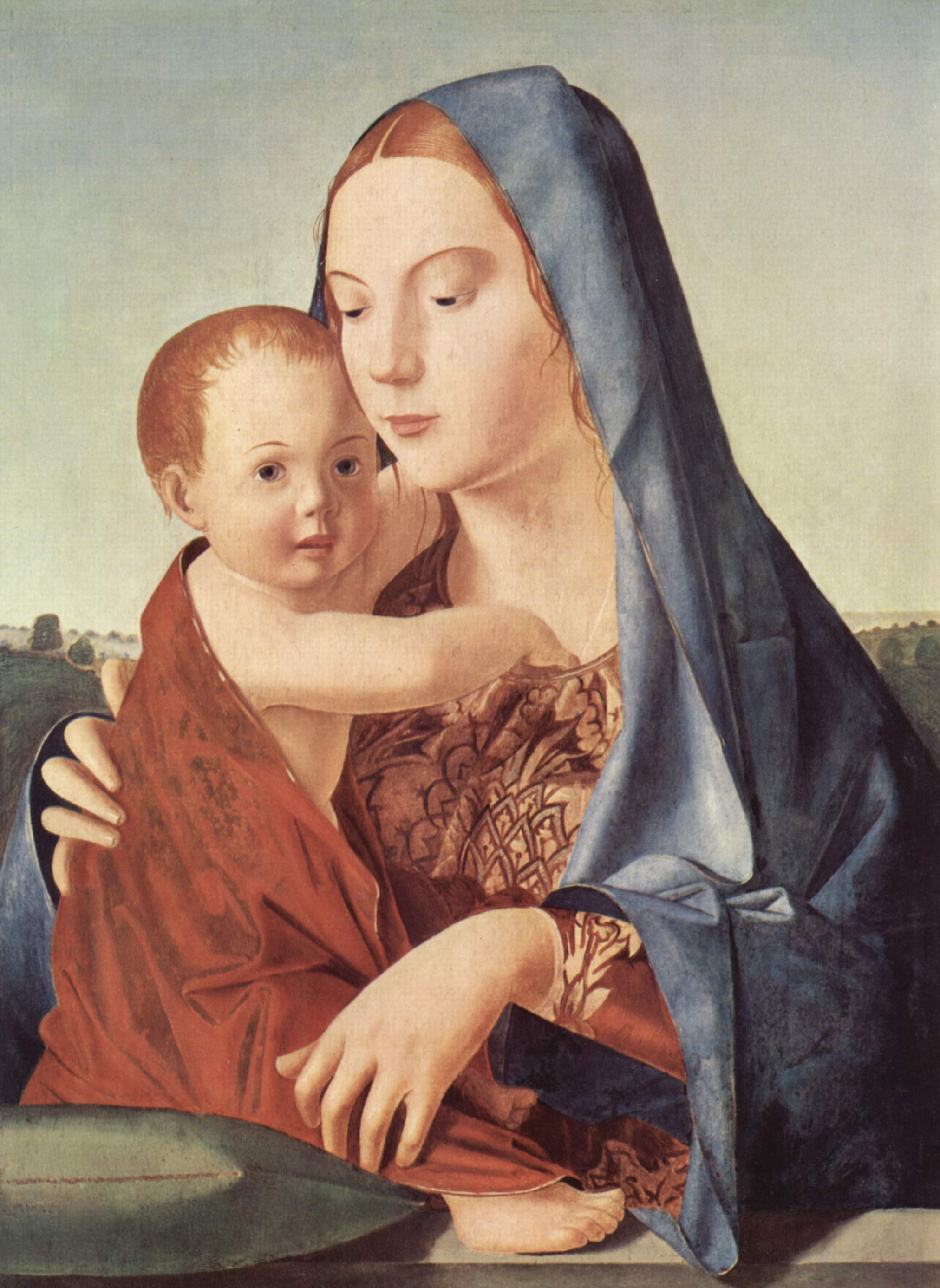 Madonna and Child (Madonna Benson) - Antonello da Messina ...