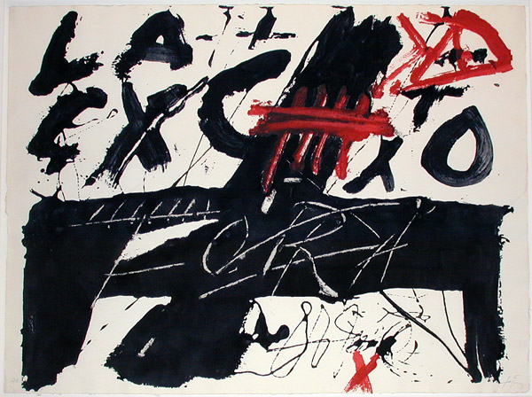 Negre i roig III: Fora - Antoni Tapies
