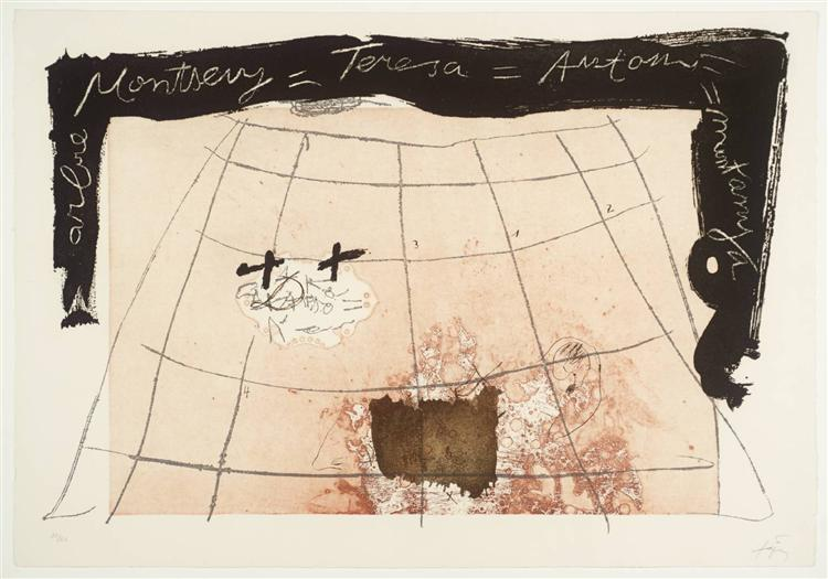 Cartography, 1976 - Antoni Tapies