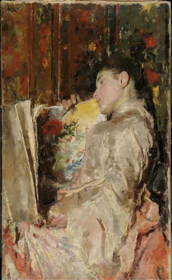Woman with an Album, 1888 - Antonio Mancini - WikiArt.org