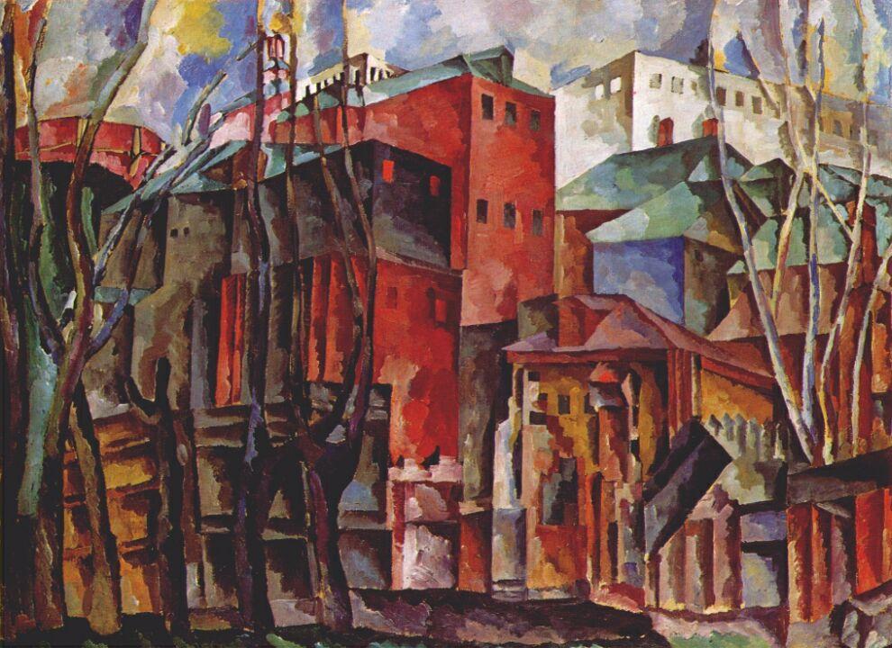 Tall Buildings Oil Paintings