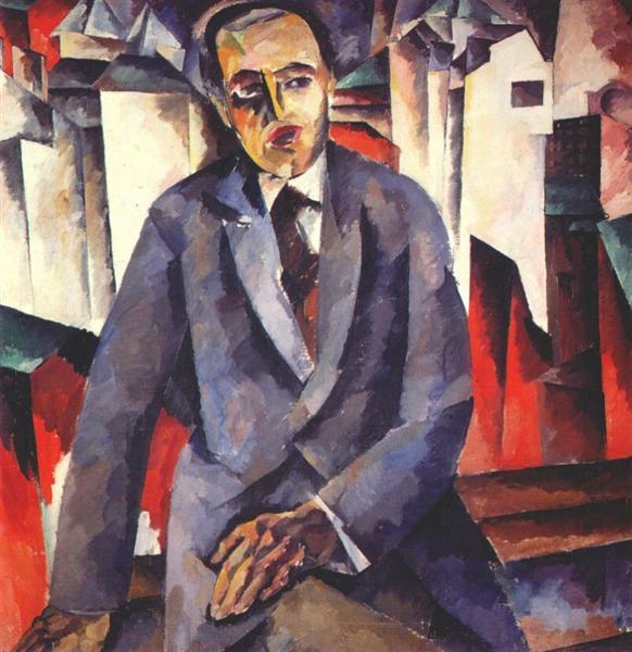Portrait of the Regisseur Alexander Tairov, 1919 - 1920 - Aristarkh Lentulov