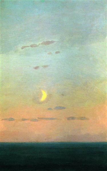 Crescent moon at sunset, c.1908 - Arkhip Kuindzhi