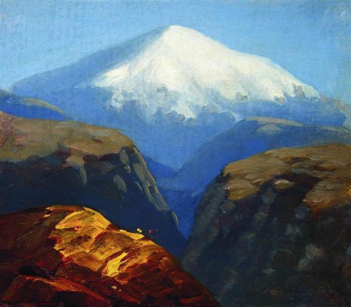 Elbrus in the daytime - Arkhip Kuindzhi
