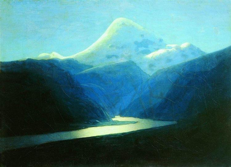 Elbrus in the Evening, c.1908 - Arkhip Kuindzhi