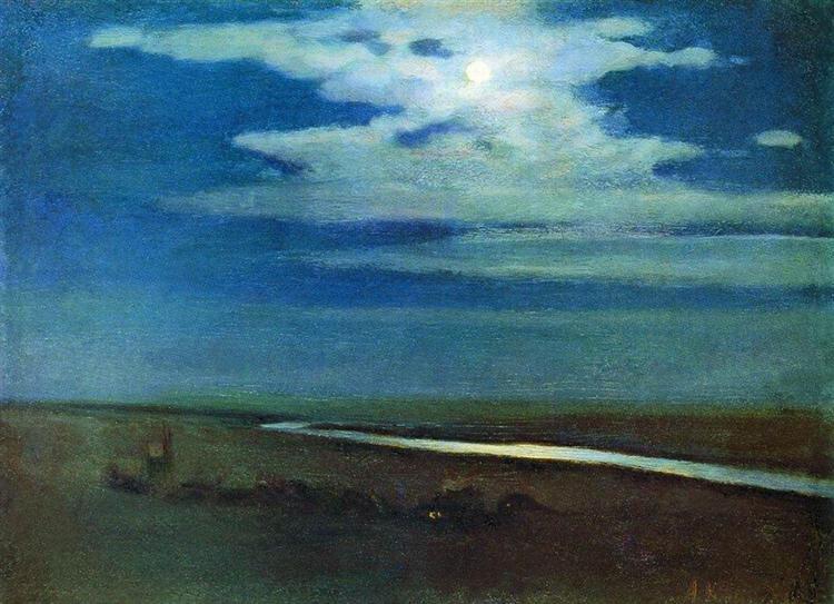 Night, c.1880 - Arkhip Kuindzhi