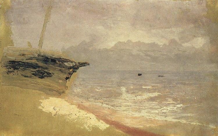 Sea. Gloomy Day, c.1878 - Archip Iwanowitsch Kuindschi
