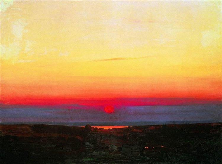 Sunset in the steppes by the sea, c.1908 - Arkhip Kuindzhi