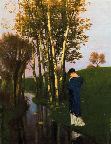 Autumn thoughts - Arnold Böcklin