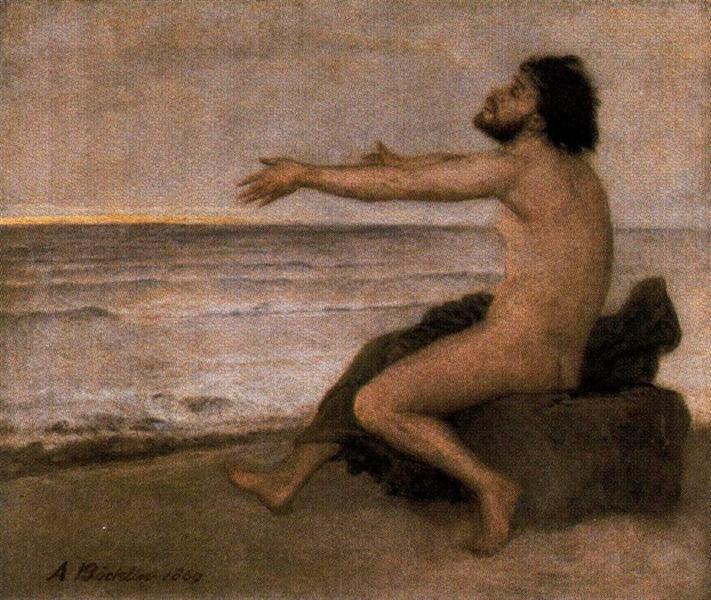 Odysseus by the sea, 1869 - Arnold Böcklin