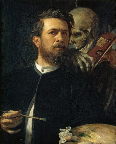 Self-Portrait with Death as a Fiddler, 1872 - Arnold Böcklin