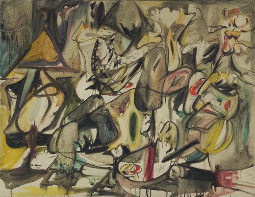 The Leaf of the Artichoke is an Owl, 1944 - Arshile Gorky