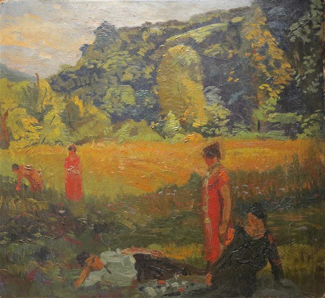 Summer Evening, France, 1910 - Arthur Beecher Carles
