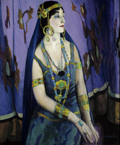 The Actress as Cleopatra (Mercedes de Cordoba, artist's wife), 1914 - Arthur Beecher Carles