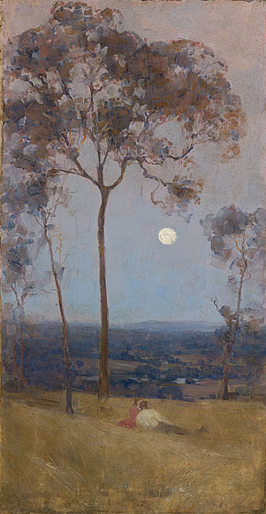 Above us the great grave sky - Arthur Streeton