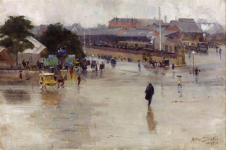 The railway station, Redfern - Arthur Streeton
