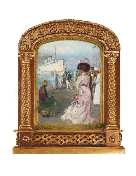Decorative Panel for the Romanian Maritime Service (Study), 1908 - Arthur Verona