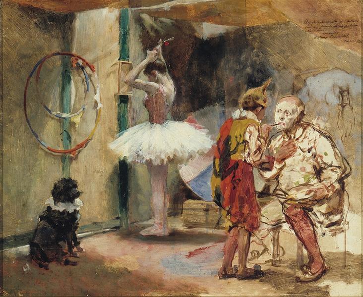 Escenas del circo, 1891 - Артуро Михелена