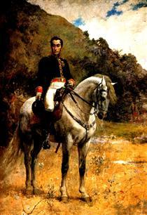 Retrato ecuestre de Bolivar - Arturo Michelena