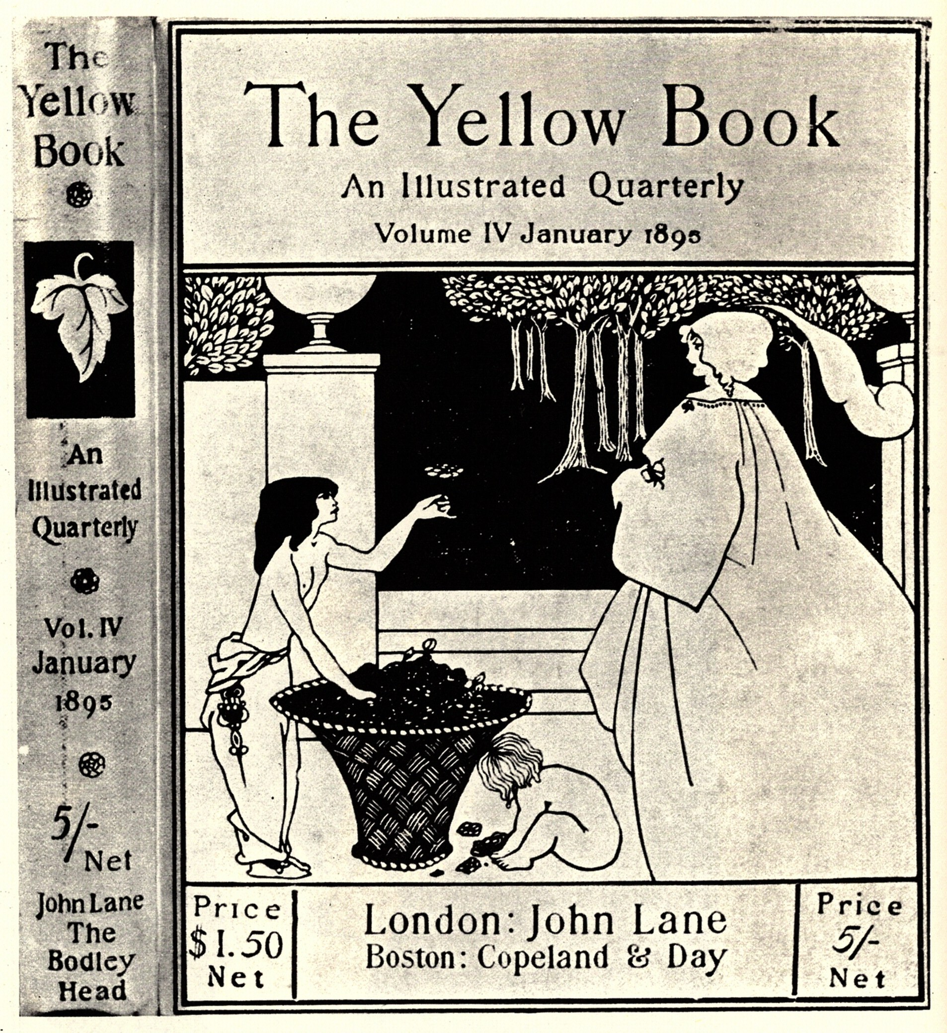 for the cover of Volume IV of  The Yellow Book  Prev NextAubrey Beardsley The Yellow Book
