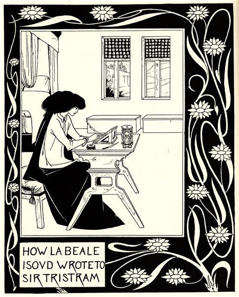 How La Beale Isoud Wrote to Sir Tristram, 1892 - Aubrey Beardsley