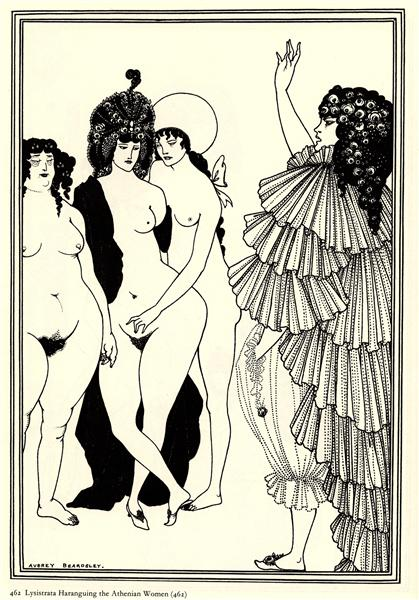 Lysistrata Haranguing the Athenian Women, 1896 - Aubrey Beardsley