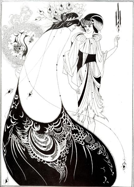 The Peacock Skirt - Aubrey Beardsley