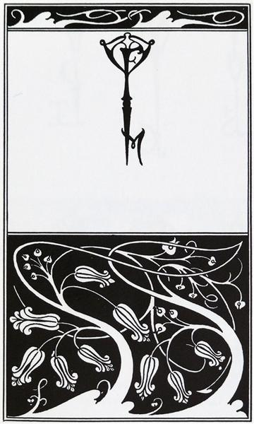 Title page and key monogram of The Mountain Lover, c.1895 - Aubrey Beardsley