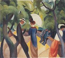 Promenade - August Macke