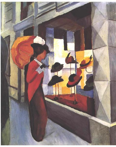 The Hat Shop, 1913 - August Macke