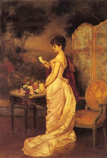 The Love Letter, 1883 - Auguste Toulmouche