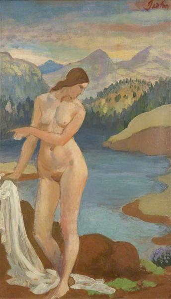 Bather in the Welsh Mountains, 1913 - Augustus Edwin John