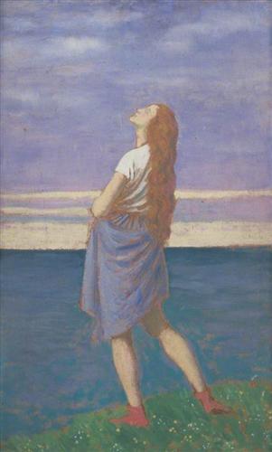 The Girl on the Cliff - Augustus John
