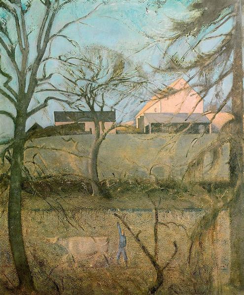 Big Landscape with Cow, c.1958 - Balthus