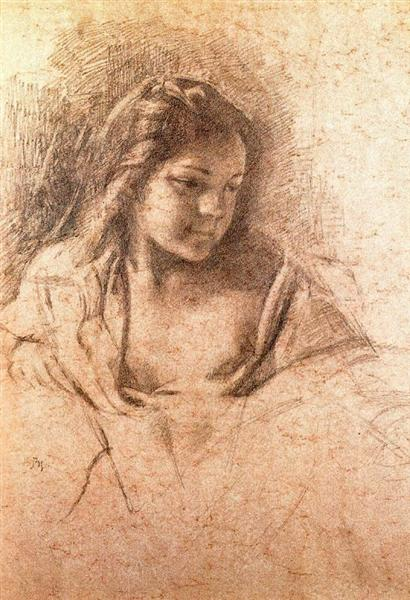 Bust of the young girl, c.1965 - Balthus