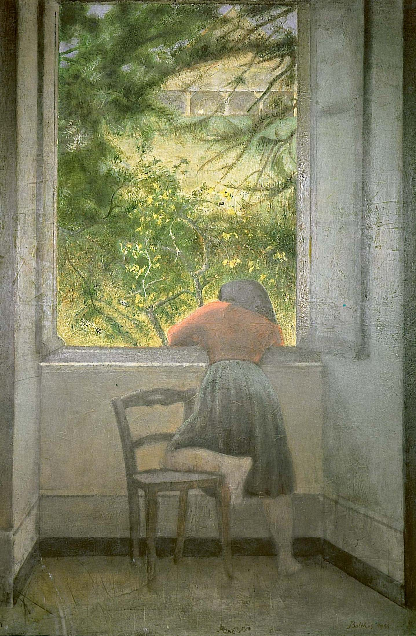 Girl at the window balthus encyclopedia for Fenetre in english