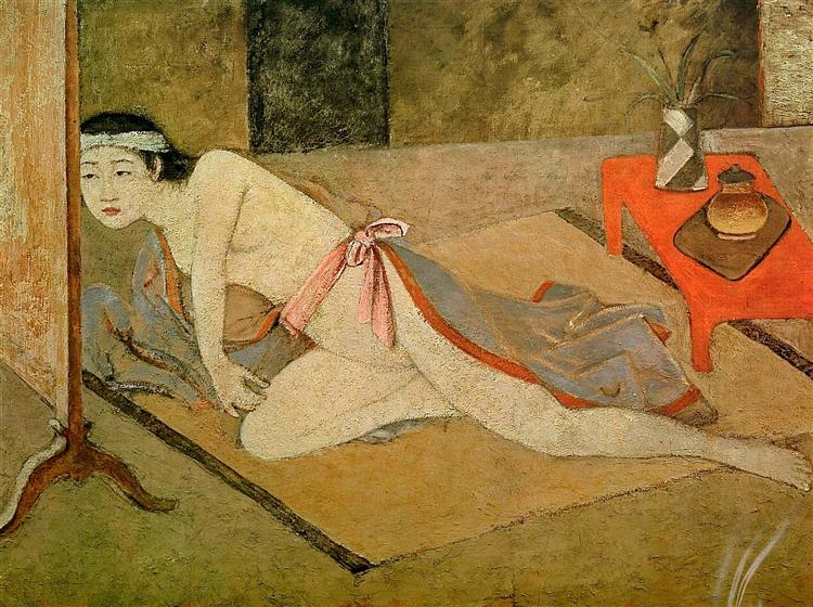 Japanese Girl with by the Red Table, 1967 - Balthus