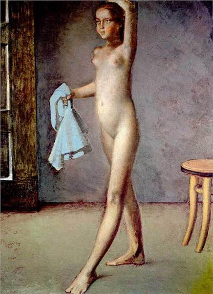 Nude with a Silk Scarf, c.1982 - Balthus