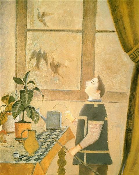 The Child with Pigeons, c.1959 - Balthus