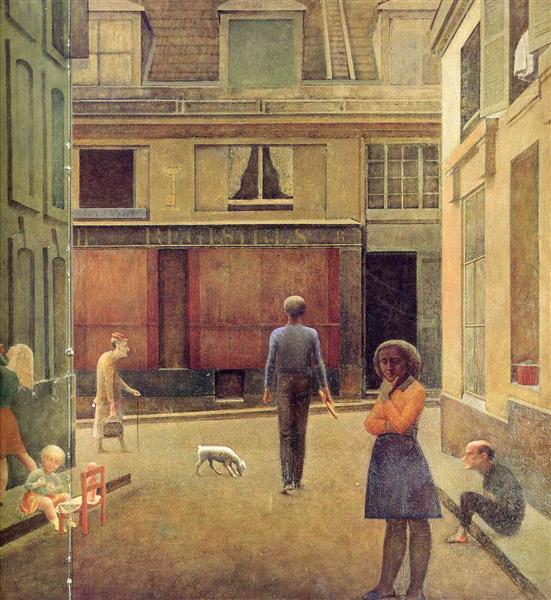 The passage of Commerce Saint-Andre, 1954 - Balthus