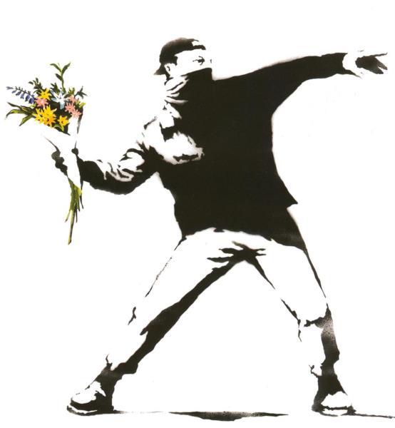 Flower thrower - Banksy