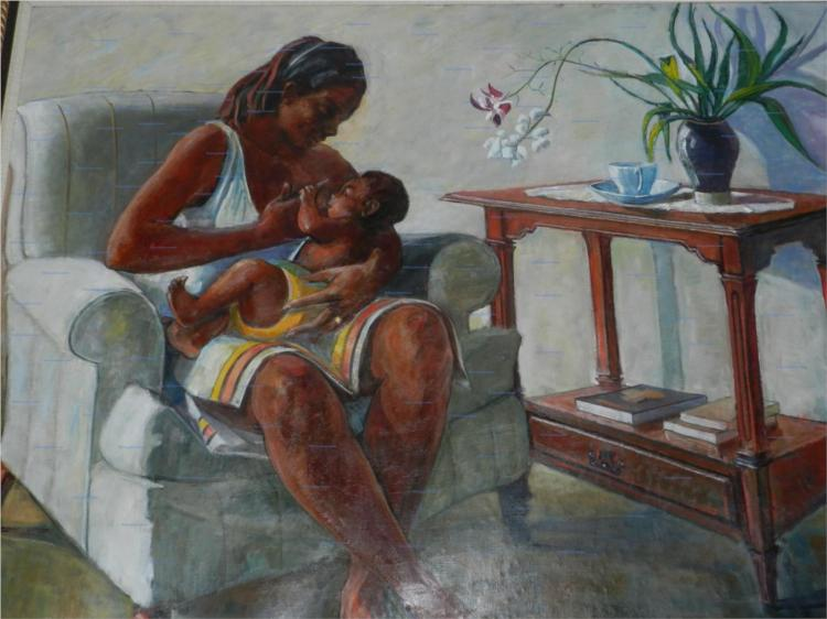 Mother & Child - Barrington Watson