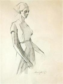 Sketch of a Woman - Barrington Watson