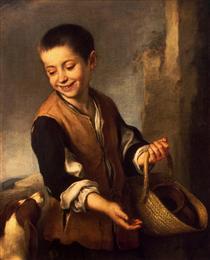 Boy with a Dog - Bartolome Esteban Murillo