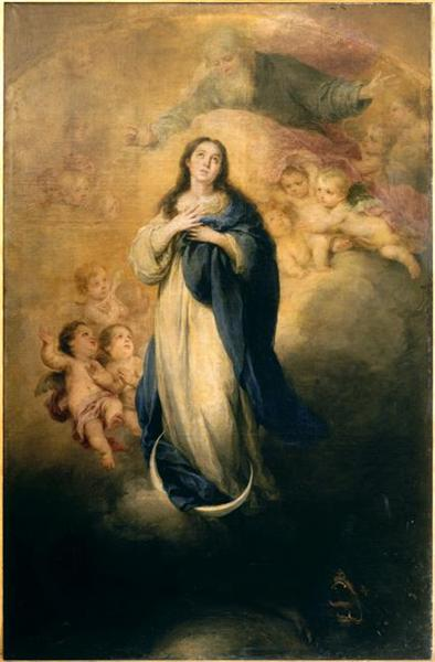 The Immaculate Conception with the Eternal Father, c.1668 - c.1669 - Bartolome Esteban Murillo