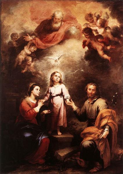 The Two Trinities, 1675 - 1682 - Bartolome Esteban Murillo