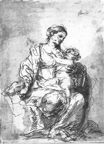 Virgin and Child - Bartolomé Esteban Murillo