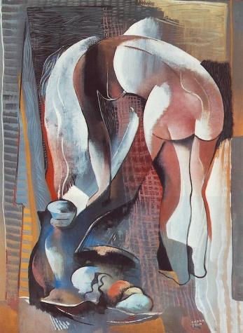 Bending Nude from Behind - Bela Kadar