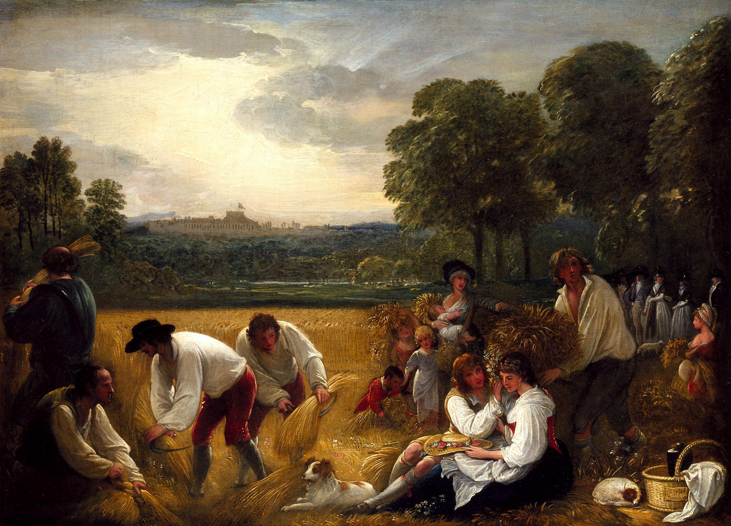 Benjamin West, (1738–1820) Harvesting-at-windsor-1795